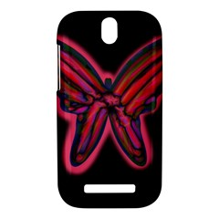 Red butterfly HTC One SV Hardshell Case