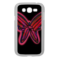 Red butterfly Samsung Galaxy Grand DUOS I9082 Case (White)
