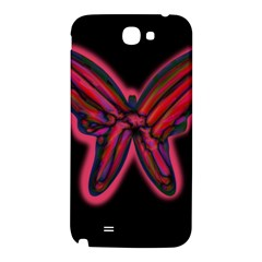 Red butterfly Samsung Note 2 N7100 Hardshell Back Case