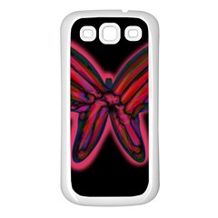 Red butterfly Samsung Galaxy S3 Back Case (White)