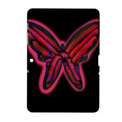 Red butterfly Samsung Galaxy Tab 2 (10.1 ) P5100 Hardshell Case