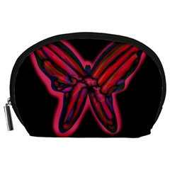 Red butterfly Accessory Pouches (Large)