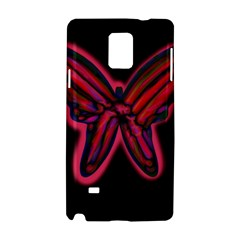 Red butterfly Samsung Galaxy Note 4 Hardshell Case