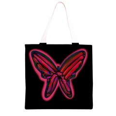 Red butterfly Grocery Light Tote Bag