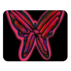Red butterfly Double Sided Flano Blanket (Large)