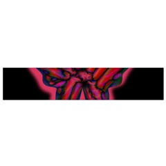 Red butterfly Flano Scarf (Small)
