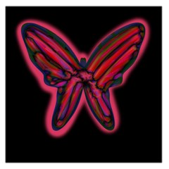 Red butterfly Large Satin Scarf (Square)