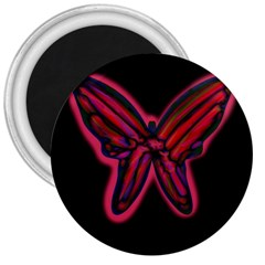 Red butterfly 3  Magnets