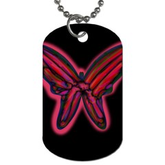 Red butterfly Dog Tag (Two Sides)