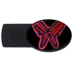 Red butterfly USB Flash Drive Oval (2 GB)