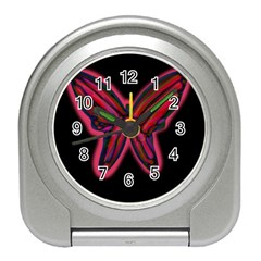 Red butterfly Travel Alarm Clocks
