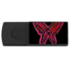 Red butterfly USB Flash Drive Rectangular (4 GB)