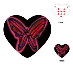 Red butterfly Playing Cards (Heart)