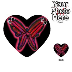 Red butterfly Playing Cards 54 (Heart)