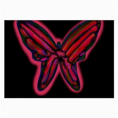 Red butterfly Large Glasses Cloth (2-Side)