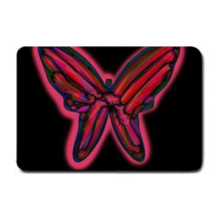 Red butterfly Small Doormat