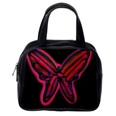 Red butterfly Classic Handbags (One Side)
