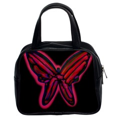 Red butterfly Classic Handbags (2 Sides)