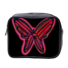 Red butterfly Mini Toiletries Bag 2-Side