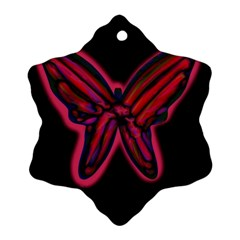 Red butterfly Ornament (Snowflake)
