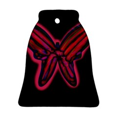 Red butterfly Bell Ornament (2 Sides)