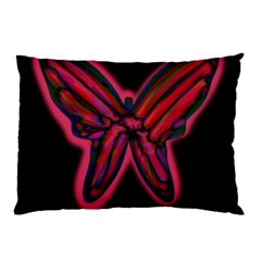 Red Butterfly Pillow Case (two Sides)