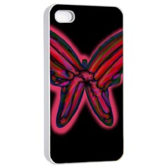 Red butterfly Apple iPhone 4/4s Seamless Case (White)