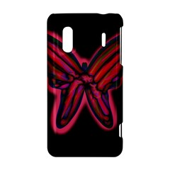 Red butterfly HTC Evo Design 4G/ Hero S Hardshell Case