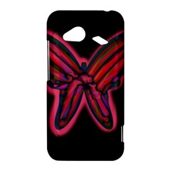 Red butterfly HTC Droid Incredible 4G LTE Hardshell Case
