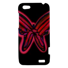 Red butterfly HTC One V Hardshell Case