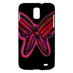 Red butterfly Samsung Galaxy S II Skyrocket Hardshell Case