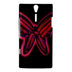 Red butterfly Sony Xperia S
