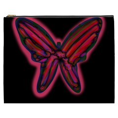 Red butterfly Cosmetic Bag (XXXL)