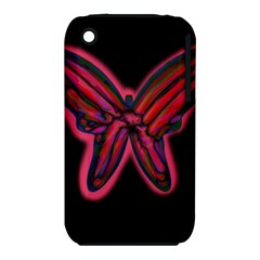 Red butterfly Apple iPhone 3G/3GS Hardshell Case (PC+Silicone)