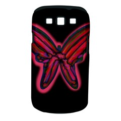 Red butterfly Samsung Galaxy S III Classic Hardshell Case (PC+Silicone)