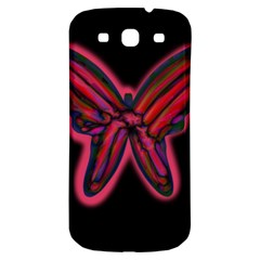 Red butterfly Samsung Galaxy S3 S III Classic Hardshell Back Case