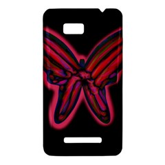 Red butterfly HTC One SU T528W Hardshell Case