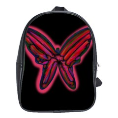Red butterfly School Bags (XL)
