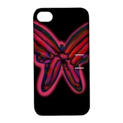 Red butterfly Apple iPhone 4/4S Hardshell Case with Stand
