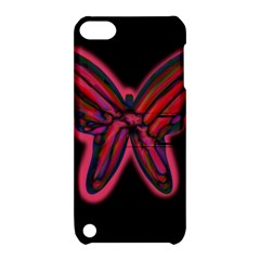 Red butterfly Apple iPod Touch 5 Hardshell Case with Stand