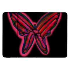 Red butterfly Samsung Galaxy Tab 8.9  P7300 Flip Case