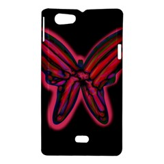 Red butterfly Sony Xperia Miro
