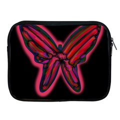 Red butterfly Apple iPad 2/3/4 Zipper Cases