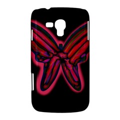 Red butterfly Samsung Galaxy Duos I8262 Hardshell Case