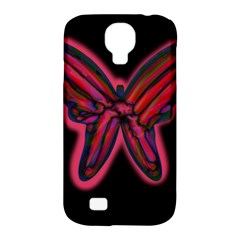 Red butterfly Samsung Galaxy S4 Classic Hardshell Case (PC+Silicone)