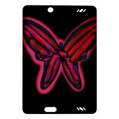 Red butterfly Amazon Kindle Fire HD (2013) Hardshell Case