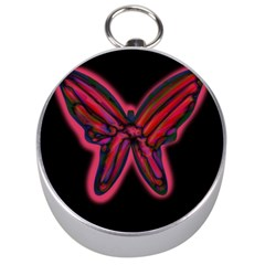 Red butterfly Silver Compasses
