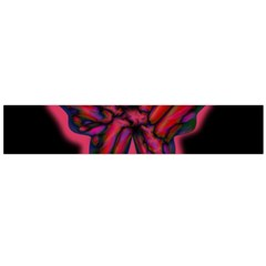 Red butterfly Flano Scarf (Large)