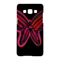 Red butterfly Samsung Galaxy A5 Hardshell Case