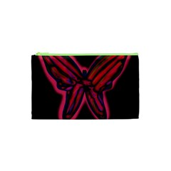 Red butterfly Cosmetic Bag (XS)